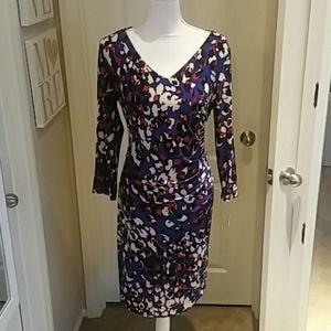 Anne Klein Print Dress Sz 14